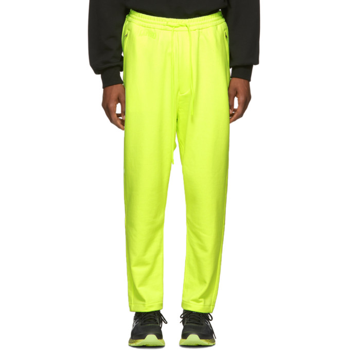 JUUN.J Drawstring Waist Track Pants in Yellow