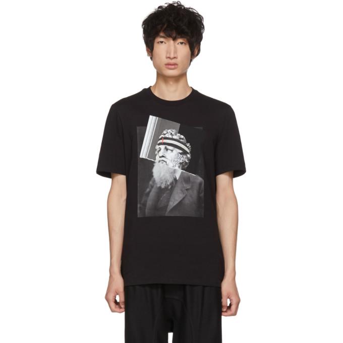 NEIL BARRETT Poseidon Print T-Shirt, 1414Blkprnt