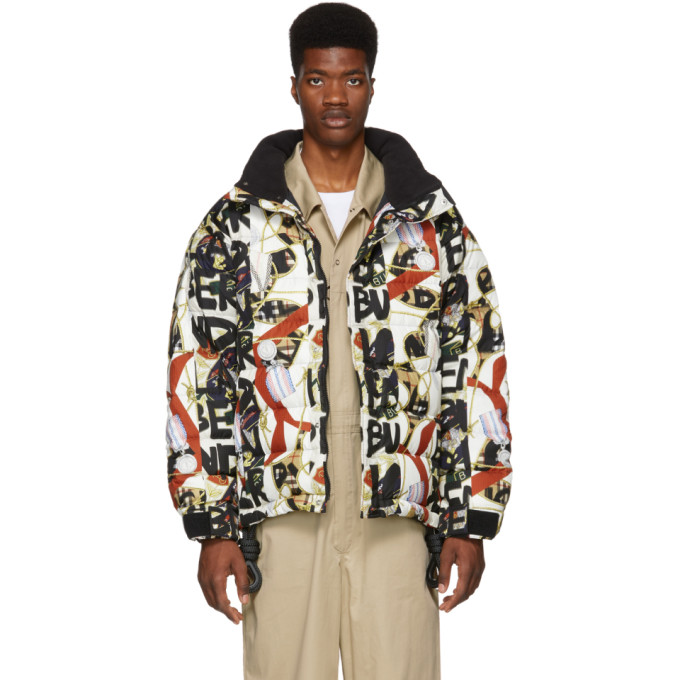 Down-filled graffiti and archive-print jacket
