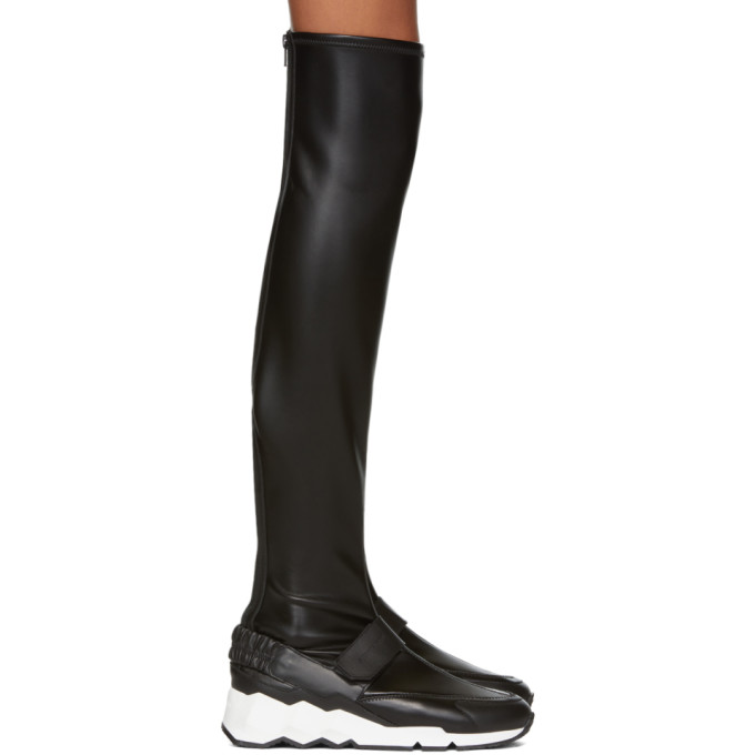PIERRE HARDY BLACK FLASH COMET OVER-THE-KNEE BOOTS
