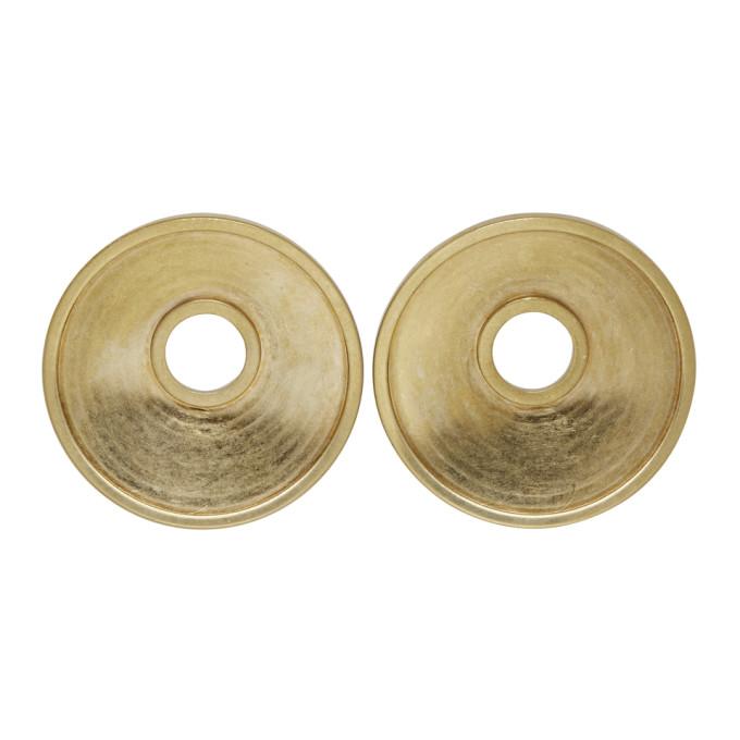 Marni Earrings MARNI GOLD ROUND CLIP-ON EARRINGS