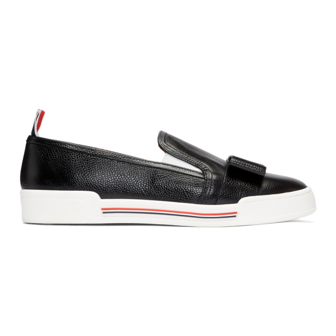 Slip-On-Sneakers Mit Schleife in Black