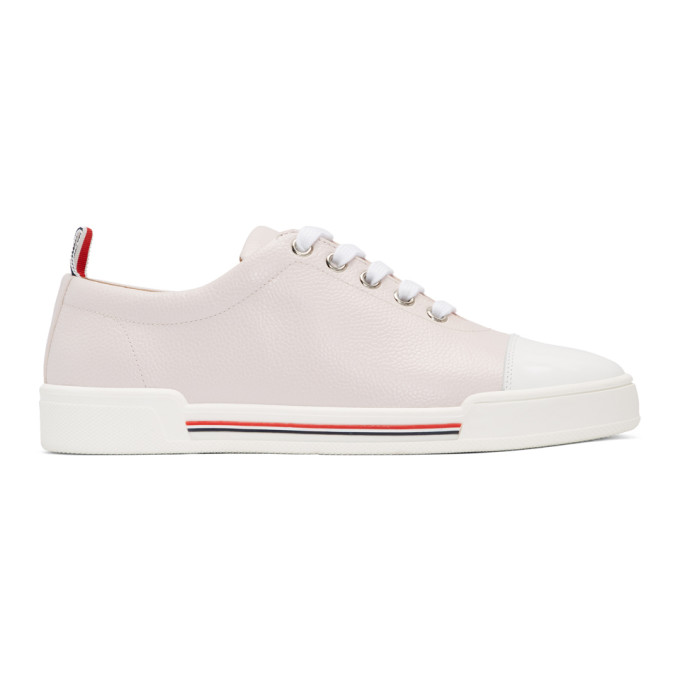 THOM BROWNE Tricolore Low-Top Sneakers in Pink