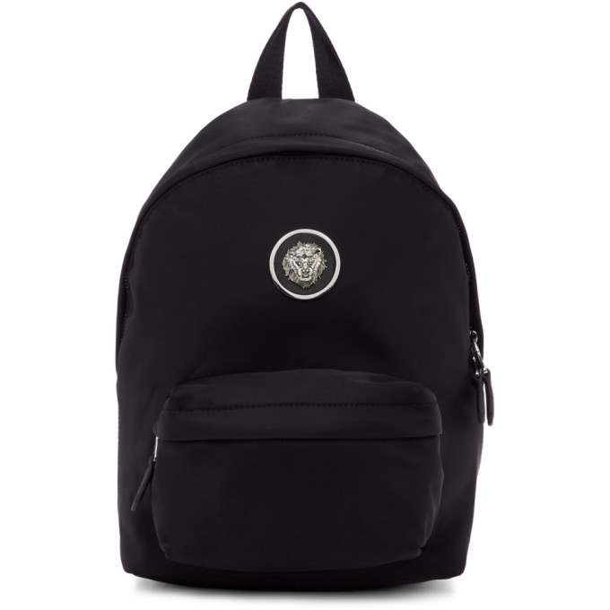 Versus Black Nylon Lion Backpack, F461N Black