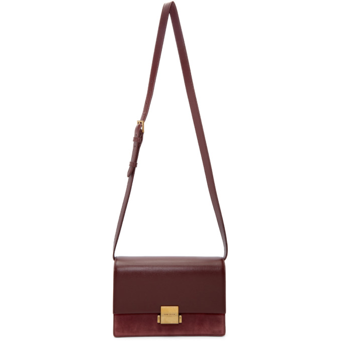 SAINT LAURENT BURGUNDY MEDIUM BELLECHASSE SATCHEL