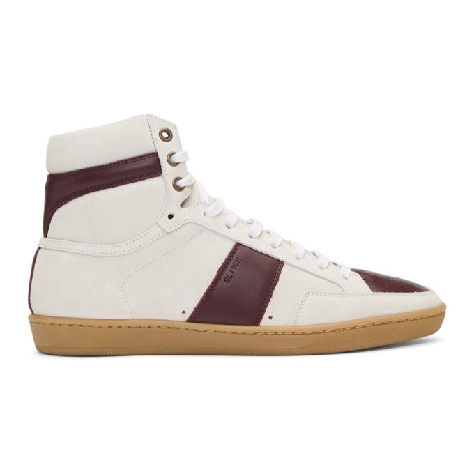 Sl/10H Signature Court Classic High-Top Sneaker, Milk/ Barolo