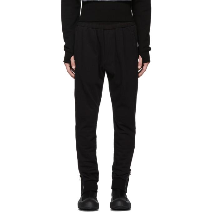 JULIUS Julius Drop-Crotch Trousers - Black