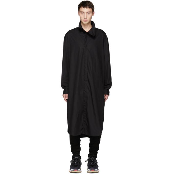 JULIUS Julius Super Long Shirt - Black