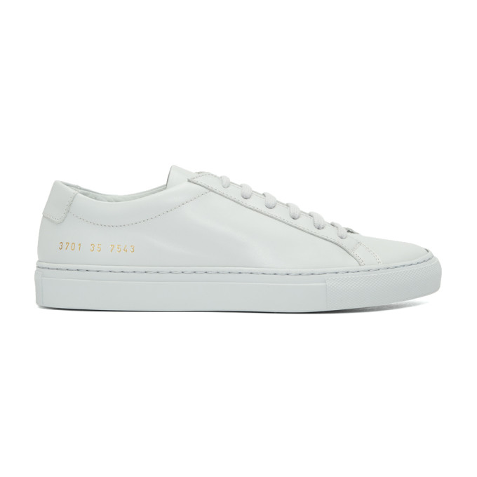 WOMAN BY COMMON PROJECTS GREY ORIGINAL LOW ACHILLIES SNEAKERS