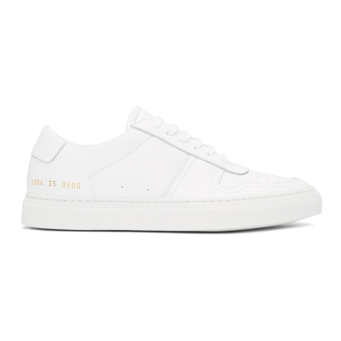 Bball Low White Leather Women'S Sneakers in Female