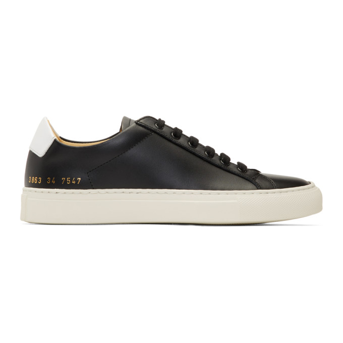 Common Projects WOMAN BY COMMON PROJECTS BLACK RETRO LOW SNEAKERS