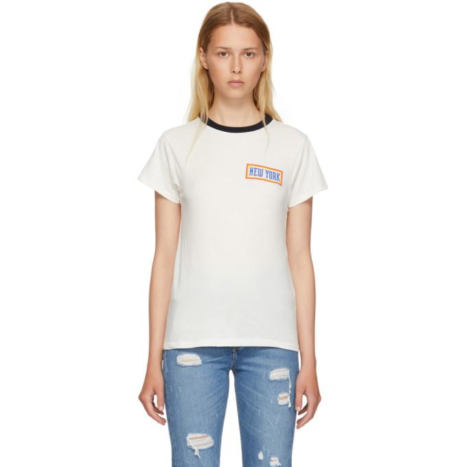 6397 WHITE NEW YORK RINGER T-SHIRT