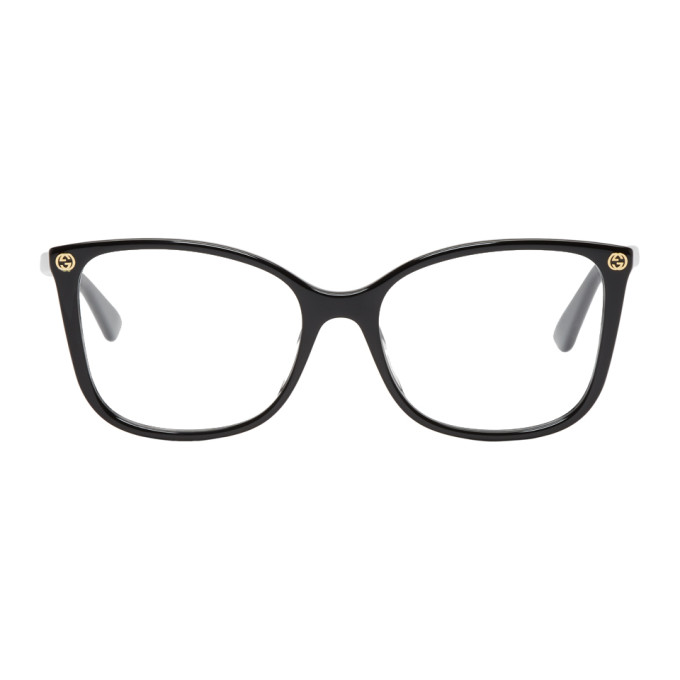 GUCCI Black Thin Oversized Glasses