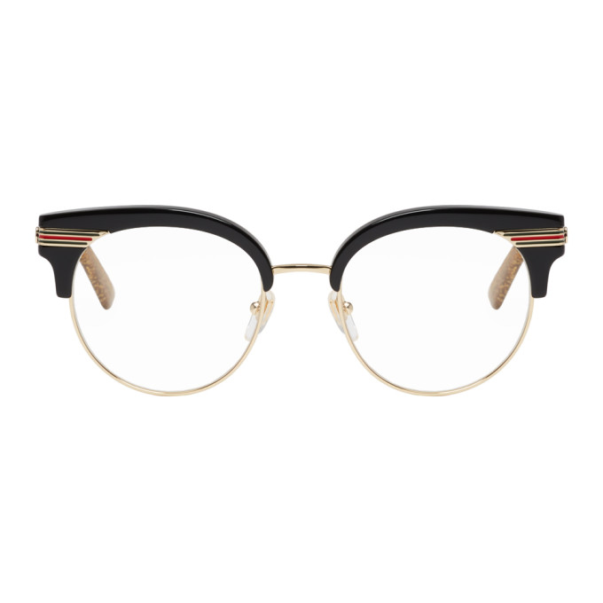 GUCCI Black & Gold Web Glasses