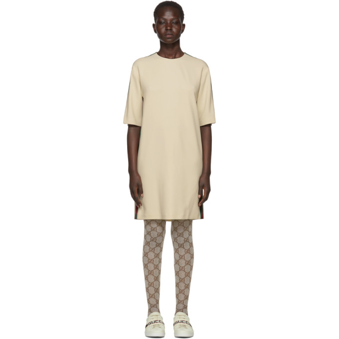 2d7a92a1e Gucci Off-White Webbing T-Shirt Dress In 9992 Ivory | ModeSens