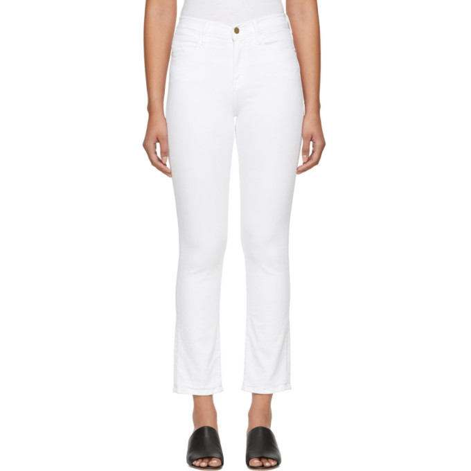 White 'Le High Straight' Jeans from SSENSE