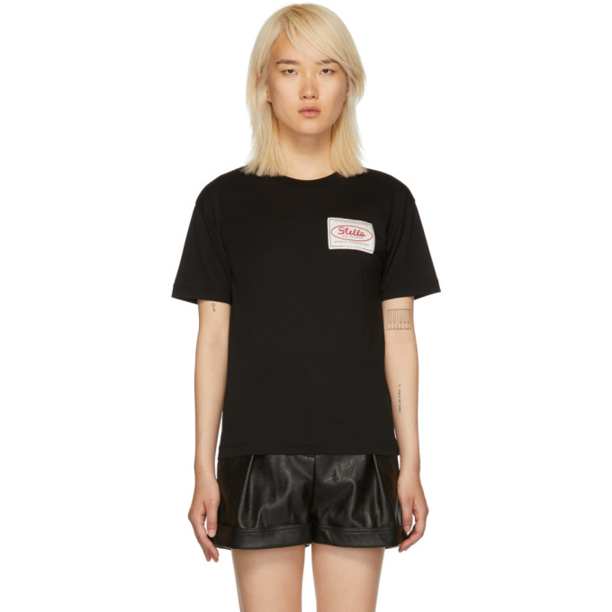 STELLA MCCARTNEY Black 'Stella Tag' T-Shirt