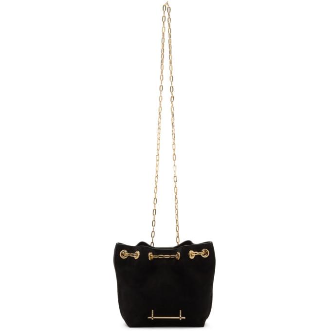 M2MALLETIER BLACK MINI BUCKET BAG