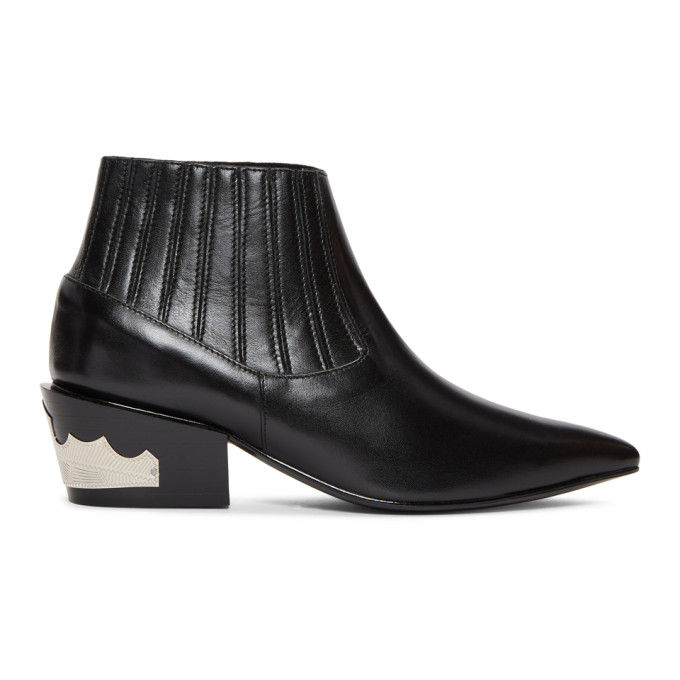 TOGA PULLA BLACK ANKLE BOOTS