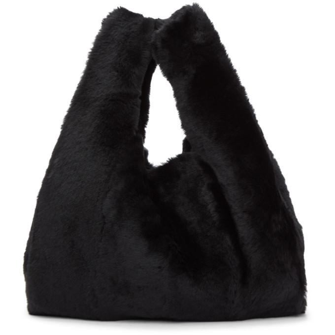 Kara KARA BLACK MINI SHEARLING SHOPPER TOTE