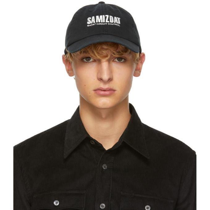 YANG LI BLACK SHORT CIRCUIT SAMIZDAT CAP
