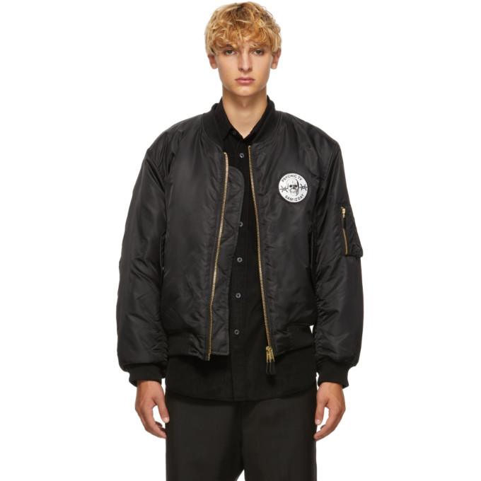 YANG LI Psychic Patch Bomber Jacket in 99 Black