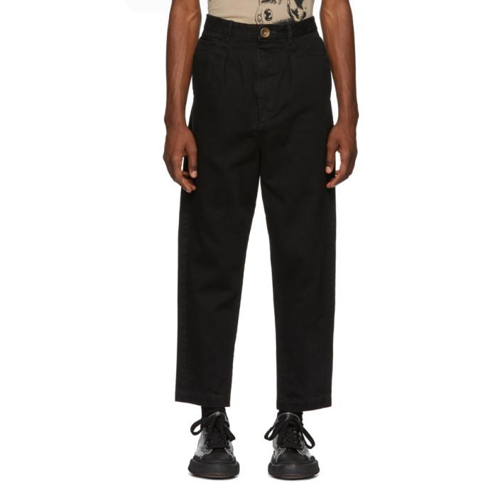 MIHARA YASUHIRO Miharayasuhiro Black Tapered Jeans