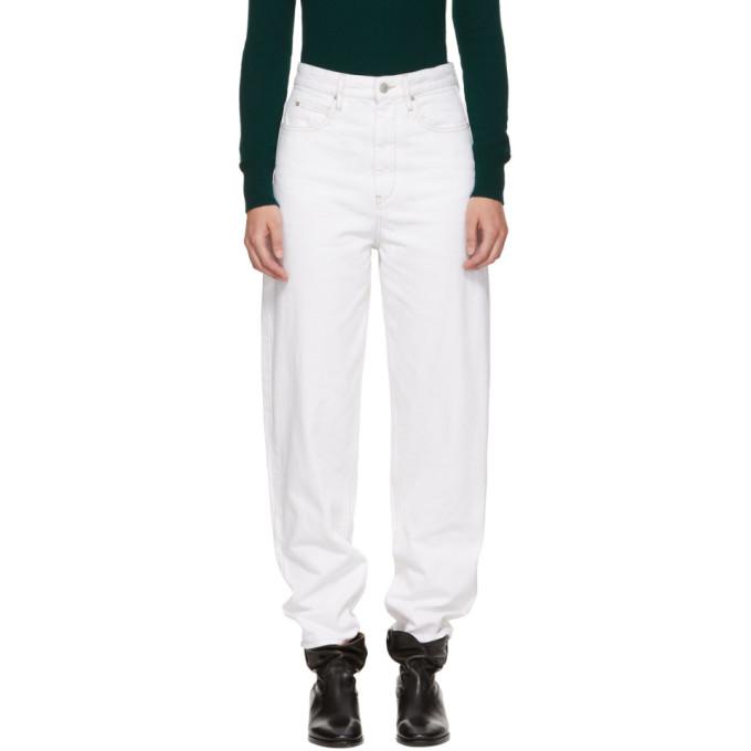 ETOILE ISABEL MARANT Forsy High-Rise Boyfriend Jeans in White