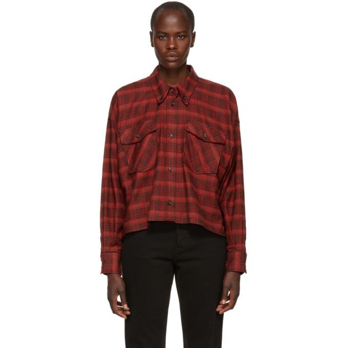 ETOILE ISABEL MARANT Isabel Marant Etoile Red Delora Flannel Shirt in 70Rd Red