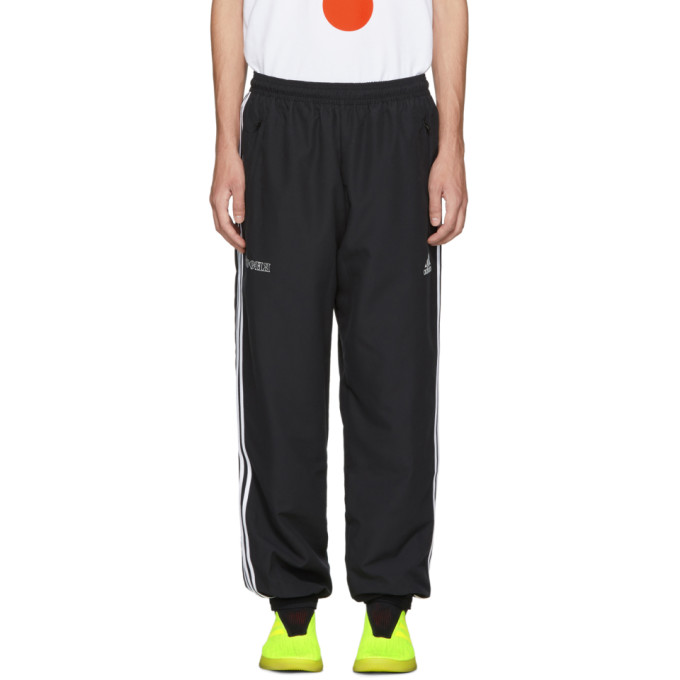 GOSHA RUBCHINSKIY BLACK ADIDAS ORIGINALS EDITION LOGO LOUNGE PANTS