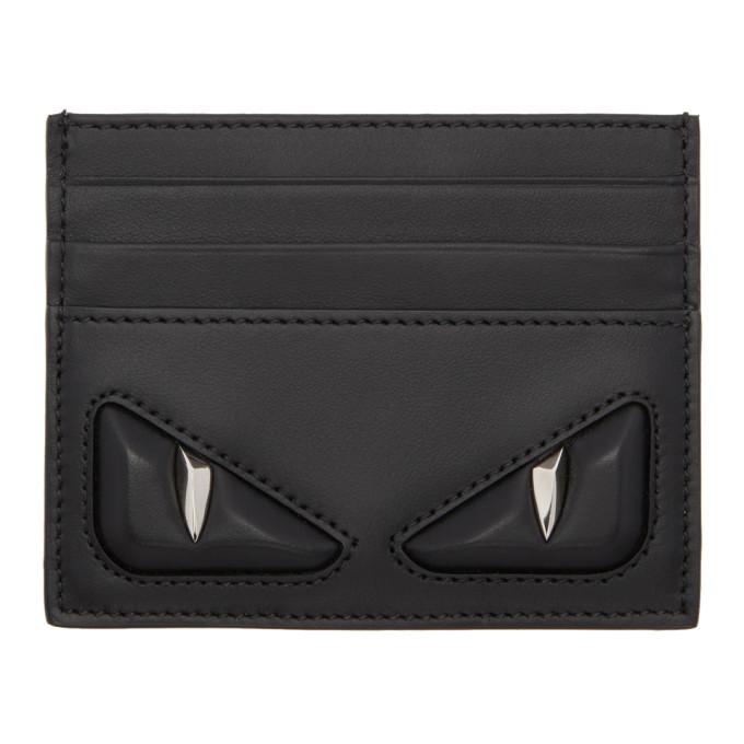 FENDI Black 'Bag Bugs' Card Holder