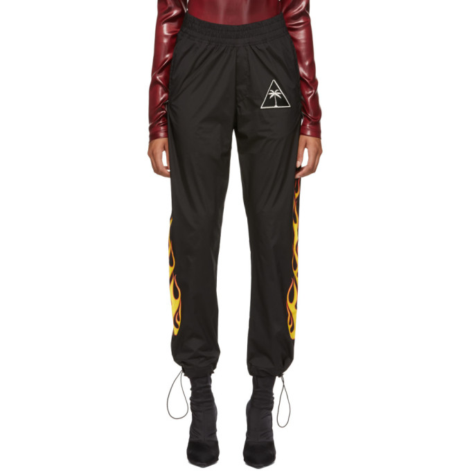 Palm Angels Black Palms And Flames Lounge Pants in 1088 Blkmul