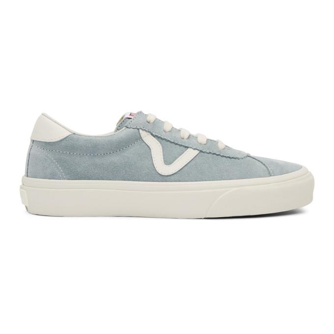 VANS Epoch Sport Lx Leather-Trimmed Suede Sneakers - Light Blue