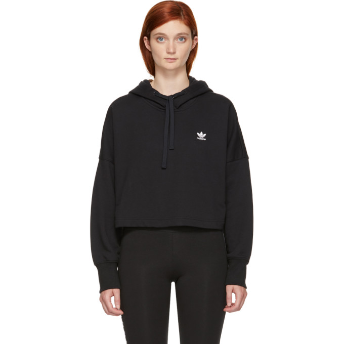 Adidas Adidas Originals Styling Complements Cropped Hoodie - Black