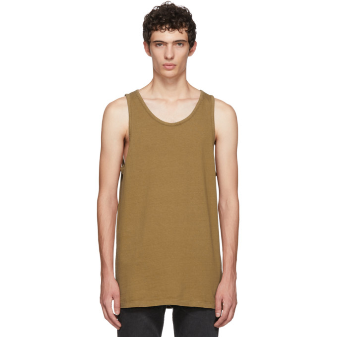 1b596669d00b9c JOHN ELLIOTT Brown Rugby Tank Top