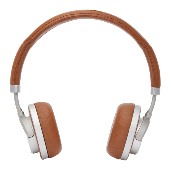 Master And Dynamic Brown And Silver Wireless Mw50 Headphones in Brown/Silv