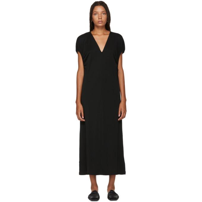 Totême TOTEME BLACK V-NECK SOLLER DRESS