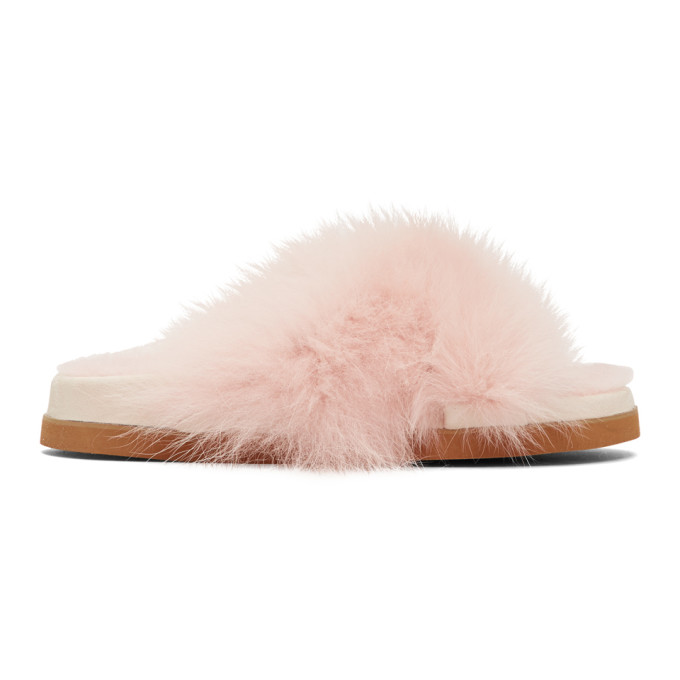 Mr And Mrs Italy Pink Fur Sandals