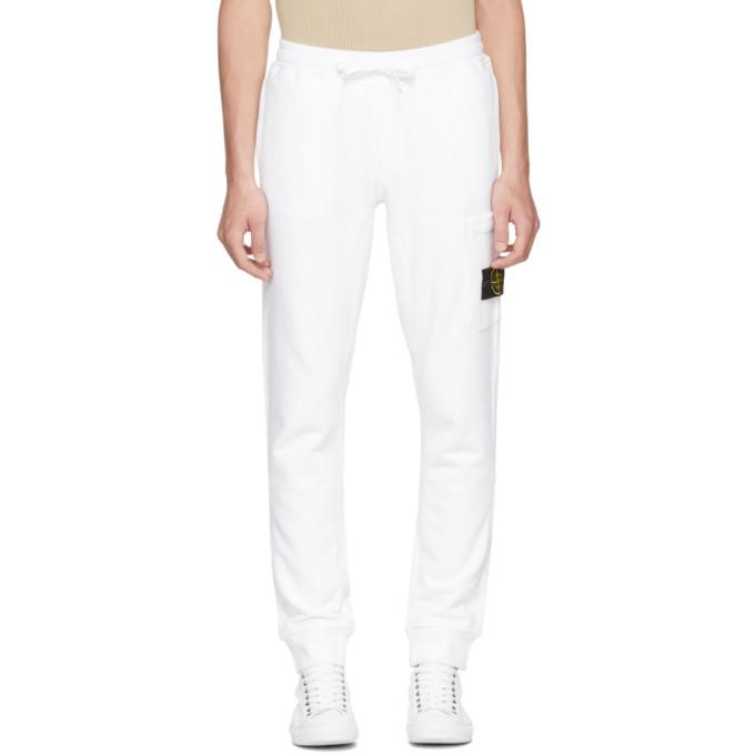 White Logo Badge Lounge Pants