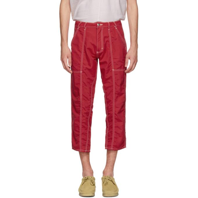 ECKHAUS LATTA Eckhaus Latta Red Blunt Trousers in Primary Red