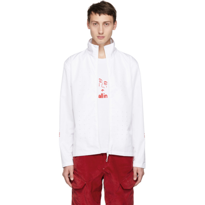 ALL IN All In White Yokoama Jacket in White/Red