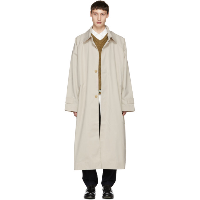 HED MAYNER BEIGE OVERSIZED TRENCH COAT
