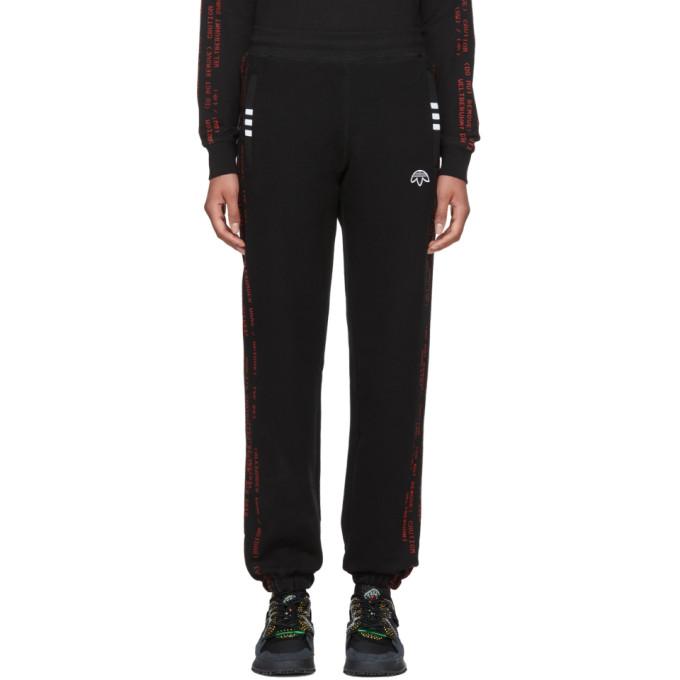 Black Logo Jogger Lounge Pants by Adidas Originals By Alexander Wang