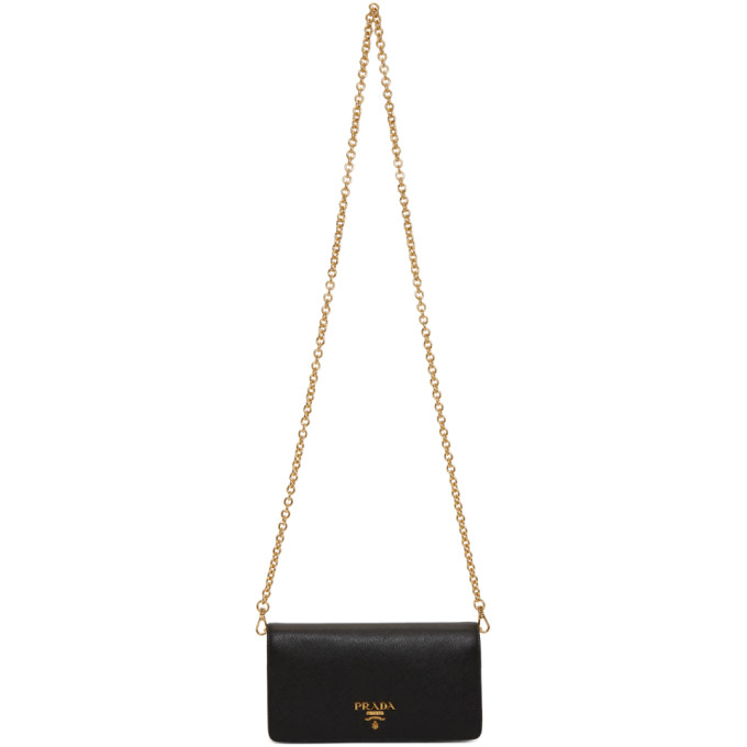 Black Mini Phone Bag by Prada