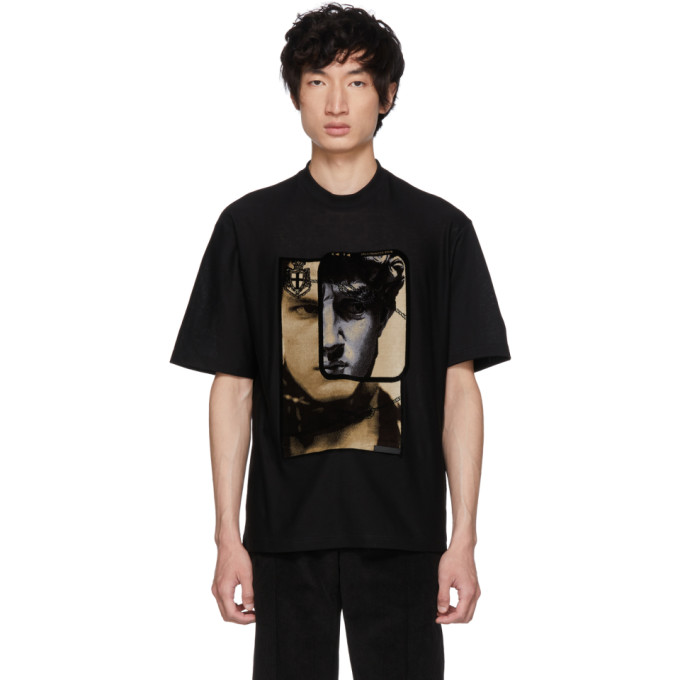 Black Face Print T Shirt by Prada