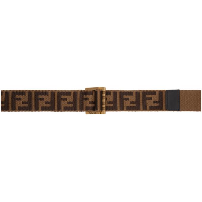 Brown 'forever Fendi' Belt by Fendi