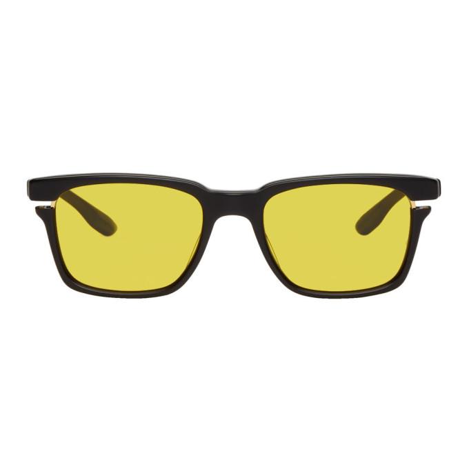 DITA Dita Black And Gold Avec Sunglasses in Black/Amber