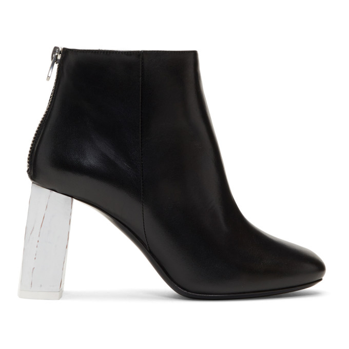 Claudine contrast-heel leather ankle boots