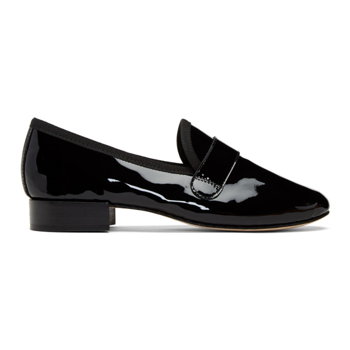 Repetto Black Patent Michael Loafers, 410 Black