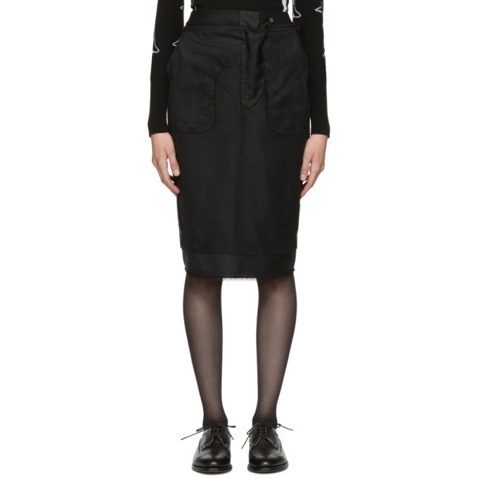 Black Inside-Out Sack Skirt Thom Browne